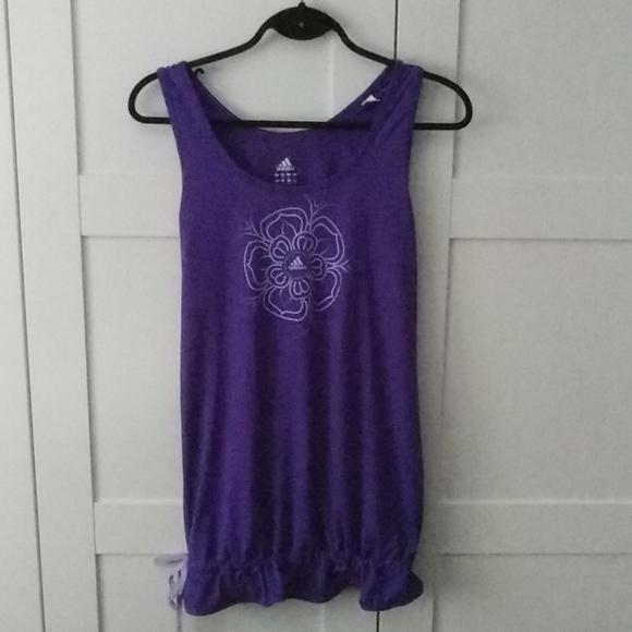 3/$25 Purple Yoga Adidas tank top
